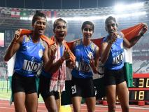 एशियन गेम्स: महिलाओं की 4x400 मीटर रिले में लगातार पांचवीं बार भारत का गोल्ड मेडल पर कब्जा