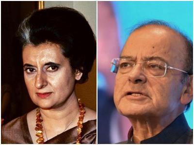 अरुण जेटली इंदिरा गांधी को बताया हिटलर, कहा- दोनों ने ही संविधान की धज्जियां उड़ाईं