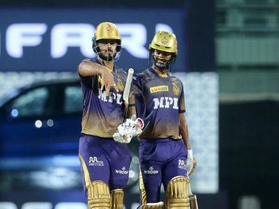 IPL 2021: नितीश राणा ने रचा इतिहास, रोहित शर्मा और शेन वॉटसन के बाद ऐसा कारनामा करने वाले बने तीसरे बल्लेबाज - Hindi News | IPL 2021 Hyderabad vs Kolkata IPL fifty-plus score at all top-5 batting positions | Latest cricket News at Lokmatnews.in
