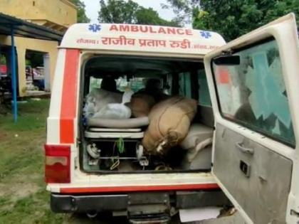 BJP MP Rajiv Pratap RudyMP Nidhiambulance280 liters recovered Liquor smuggledpatient saran bihar | भाजपा एमपीराजीव प्रताप रूडी की सांसद निधि के एंबुलेंस में शराब की तस्करी,280 लीटर बरामद, मुखिया पर आरोप