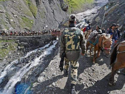 Cloudburst near Amarnath cave no casualtiesNo loss of life see videoammu and Kashmir   अमरनाथ गुफा के पास बादल फटा, कोई हताहत नहीं, एसडीआरएफ की दो टीमें मौजूद, देखें वीडियो