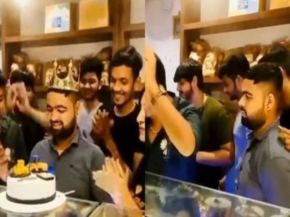 funny video of man unique birthday celebrations trending on social media   दोस्तों ने कुछ इस अंदाज में मनाया लड़के का जन्मदिन, वीडियो देखकर आप भी रह जाएंगे दंग, लोगों ने कहा- भगवान ऐसे दोस्त किसी को न दें