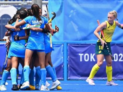 Tokyo Olympics: Indian Women's Hockey team enters Semis, creates history   Tokyo Olympics: हॉकी में भारतीय महिला टीम ने रचा इतिहास, पहली बार सेमीफाइनल में रखा कदम