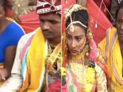 bride beats groom for chewing gutka during wedding rituals in mandap watch the vira funny video   मंडप में बैठकर गुटखा खा रहा था दूल्हा, दुल्हन ने लगाया जोरदार थप्पड़, लोगों ने कहा- असली भारतीय नारी, वीडियो वायरल