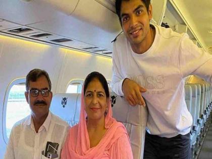 neeraj chopra took the parents on a plane tour for the first time see the reaction of the fans | नीरज चोपड़ा ने पहली बार अपने माता-पिता को कराई विमान सैर, कहा- मेरा छोटा सा सपना पूरा हुआ
