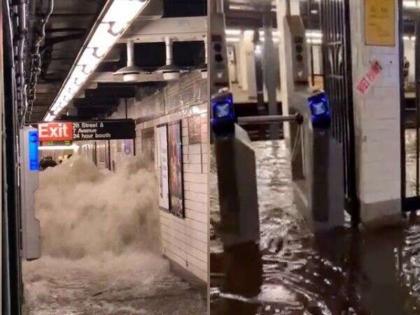 us emergency declared in newyork record breaking rain across flooding   न्यूयॉर्क में भारी बारिश से हाहाकार, मेयर ने की आपातकाल की घोषणा, कहा - कृपया अपने घरों में ही रहें, वीडियो वायरल