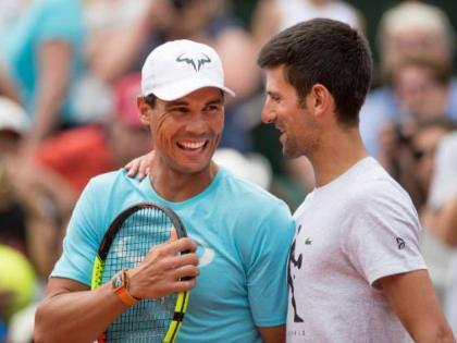 French Open Tennis TournamentWorld number one player Novak Djokovic in front 13 time champion Rafael Nadal   फ्रेंच ओपन टेनिस टूर्नामेंटः13 बार के चैंपियन राफेल नडाल के सामने दुनिया के नंबर एक खिलाड़ीनोवाक जोकोविच