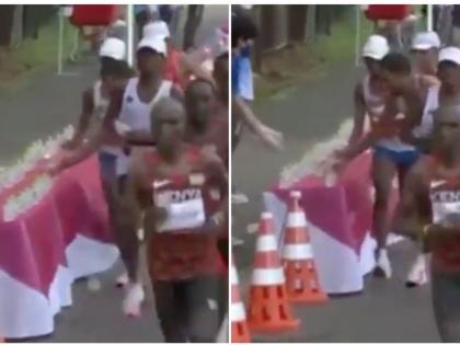 Tokyo Olympics 2020: An Olympic athlete knocked over water that had been left for his rivals during the sweltering Tokyo marathon | टोक्यो ओलंपिक में इस एथलिट को 'सबसे घटिया हरकत के लिए मिलना चाहिए गोल्ड', कैमरे में कैद हुई करतूत, देखें वीडियो