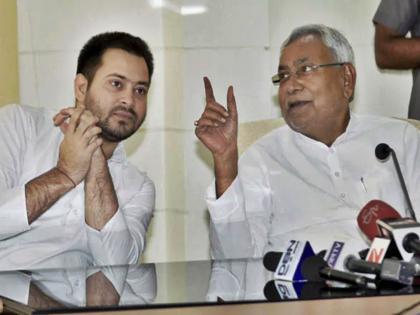 Tejashwi Yadav targeted CM Nitish kumarChief Minister's hand in breaking LJPinvited Chirag to come along | तेजस्वी यादव ने सीएम नीतीश पर साधा निशाना, कहा- लोजपा को तोड़ने में मुख्यमंत्री का हाथ,चिराग को साथ आने का दिया न्योता