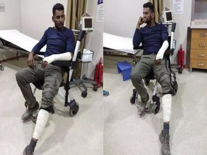 Tamil actor Vishal suffered serious back injury while shooting action scene video went viral | ऐक्शन सीन शूट करते वक्त गंभीर रूप से घायल हुए तमिल ऐक्टर विशाल, हाथ-पैर में लगे प्लास्टर; वायरल हुआ वीडियो
