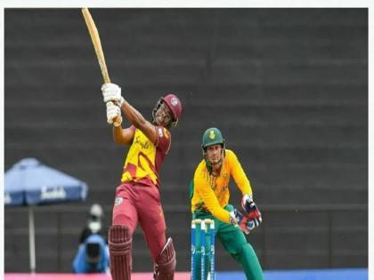 West Indies beat South Africa by 8 wickets in 1st T20 Evin Lewis made 71 run   WI vs SA: इविन लुईस की दमदार पारी, पहले टी-20 में वेस्टइंडीज ने दक्षिण अफ्रीका को 8 विकेट से हराया