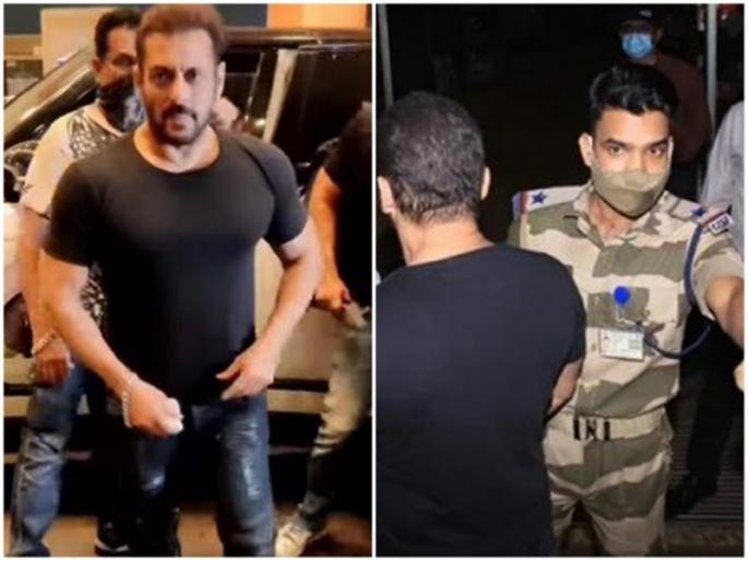 cisf asi somnath mahanti's phone seized who stopped Salman Khan at the airport for secrity check   एयरपोर्ट पर सलमान खान को रोकने वाले CISF अधिकारी का फोन जब्त, प्रोटोकॉल तोड़ने का लगा आरोप