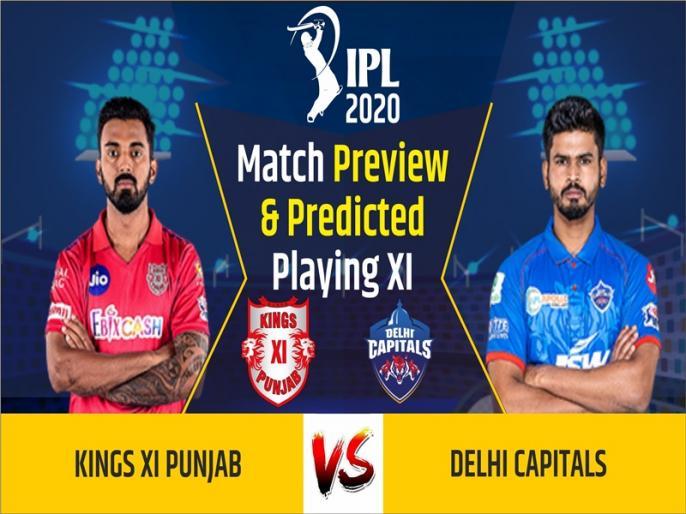 IPL 2020, Kings XI Punjab vs Delhi Capitals, Match Preview & Dream11: | IPL 2020, KXIP vs DC, Match Preview & Dream11: पंजाब का सामना दिल्ली कैपिटल्स से, जानिए दोनों टीमों की प्लेइंग इलेवन