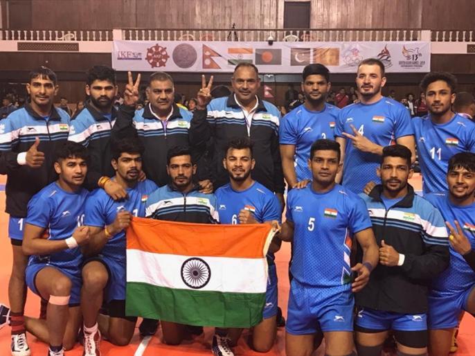 Indian Kabaddi teams bag gold in South Asian Games | भारत ने कबड्डी में दिखाई बादशाहत, महिला समेत पुरुष टीम ने जीता गोल्ड