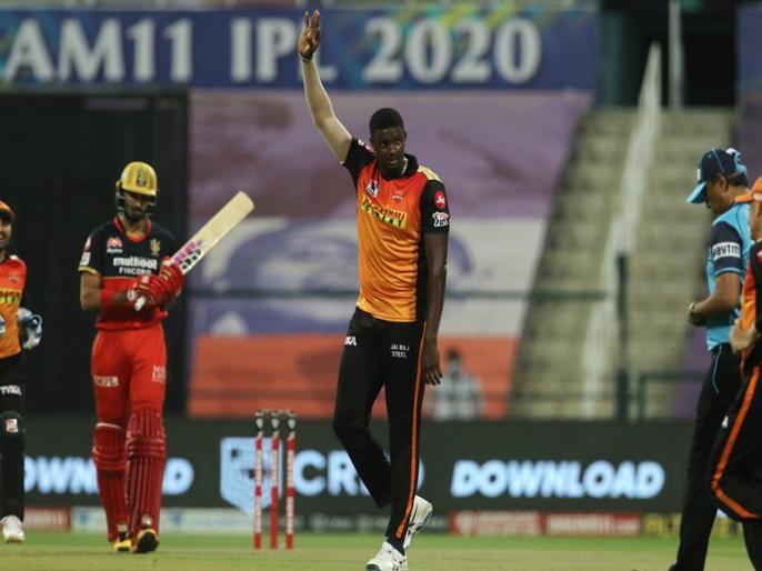 IPL 2020 Eliminator, Sunrisers Hyderabad vs Royal Challengers Bangalore: Virat Kohli out on 6 runs | IPL 2020 Eliminator, SRH vs RCB: 'करो या मरो' के मैच में कप्तान विराट कोहली फ्लॉप, महज 6 रन बनाकर आउट