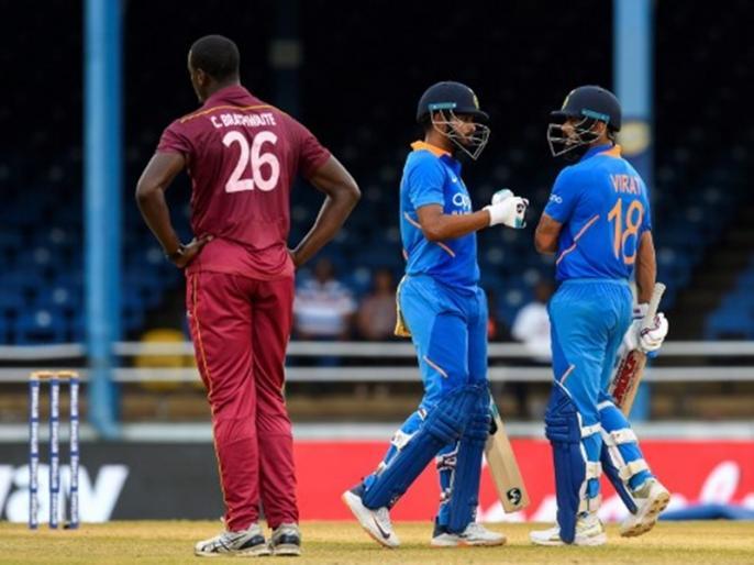 india vs west indies vs WI, 3rd ODI: India won by 6 wickets (DLS method)   IND vs WI, 3rd ODI: विराट कोहली ने जड़ा 43वां वनडे शतक, भारत ने 2-0 से जीती सीरीज