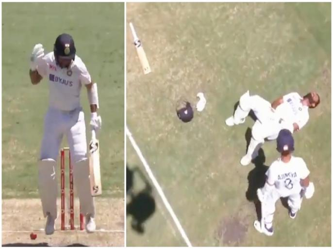 India vs Australia, 4th Test: Cheteshwar Pujara injured during batting, video goes viral | IND vs AUS, 4th Test: चेतेश्वर पुजारा के हाथ पर लगी गेंद, दर्द से छटपटाते हुए फेंका अपना बल्ला, देखें वीडियो