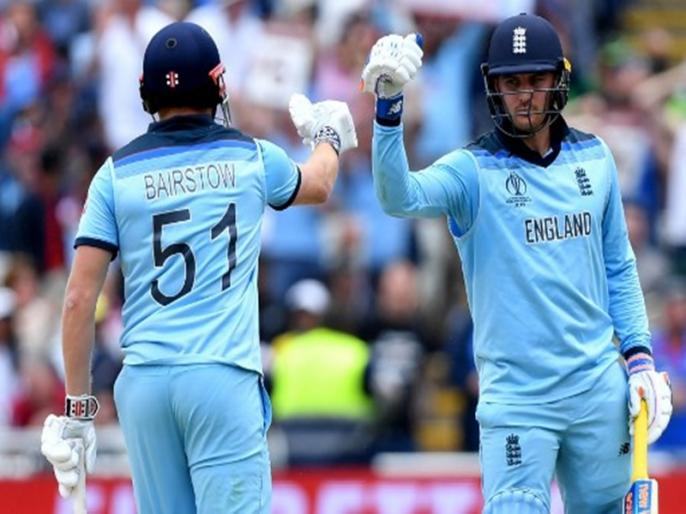 ICC World Cup 2019: Jason Roy and Jonny Bairstow's pair becomes the first pair with four century stands | ICC World Cup 2019: जॉनी बेयरस्टो-जेसन रॉय की जोड़ी का धमाल, रच डाला इतिहास