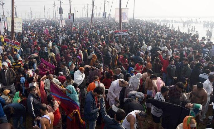 Aastha: 31 lakh devotees took a dip in Ganga Sagar and 60 lakh devotees in Prayag on Makar Sankranti | आस्थाःमकर संक्रांति पर गंगा सागर में 31 लाख औरप्रयाग में 60 लाखश्रद्धालुओं ने लगाई डुबकी