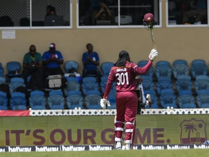 IND vs WI, 3rd ODI: Veteran West Indies opening batsman Chris Gayle retirement, End of era | IND vs WI, 3rd ODI: क्रिस गेल ने क्रिकेट को कहा 'अलविदा', इस अंदाज में किया फैंस का शुक्रिया अदा