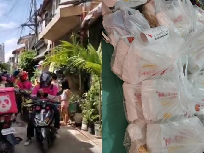 7 year oldgirl orders online food 42 delivery riders arrive in philippinesdeliver food | 7 साल की बच्ची ने कियाऑनलाइन फूड ऑर्डर, खाना लेकर पहुंचे 42डिलीवरी बॉय, जानिए मामला