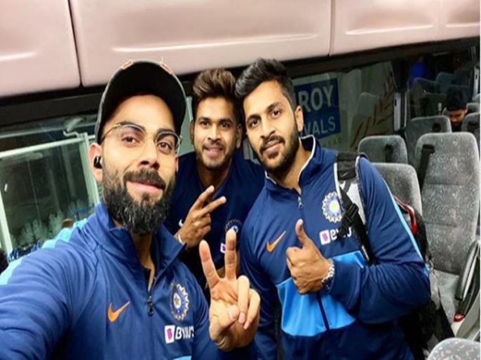 Virat Kohli posts photo from Auckland as Team India reaches New Zealand ahead of T20Is | IND vs NZ: ऑकलैंड पहुंची टीम इंडिया, श्रेयस-शार्दुल संग कोहली ने शेयर की तस्वीर