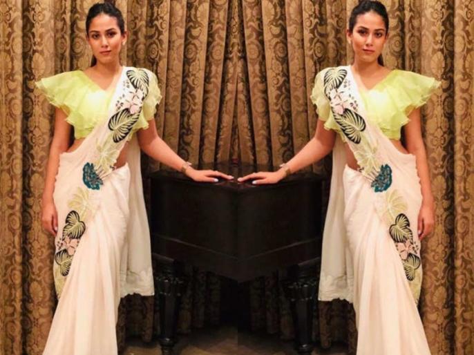 Kabir Singh actor Shahid Kapoor's wife Mira Rajput worn hot and sexy saree on her friend's wedding in Delhi, see pics inside | शाहिद की पत्नी मीरा की साड़ी के लोग हुए दीवाने, तस्वीरों में देखें खूबसूरत अदाएं