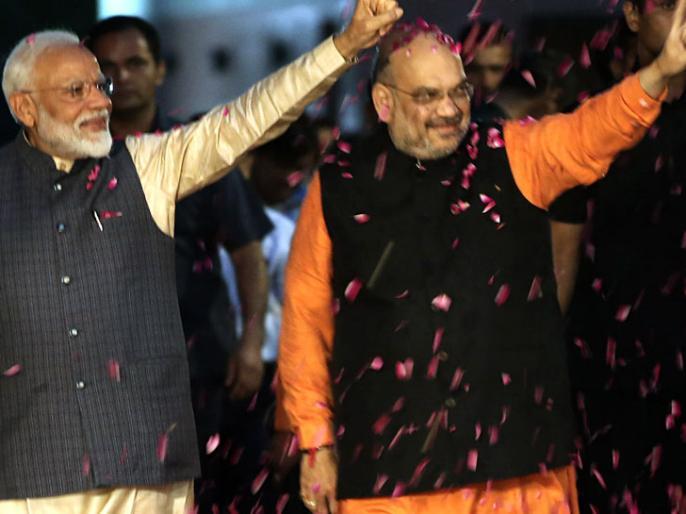 BJP wins on 303 seats in Lok Sabha Elections 2019; Congress wins on 52 seats, out of total 542 Parliamentary constituency seats. | नतीजे घोषित, 542 सीट, पहला और अंतिम सीट पर भाजपा की जीत, 303 सीट जीते, कांग्रेस को 52