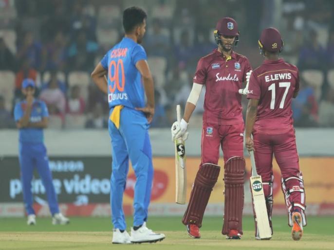 India vs West Indies: Most sixes vs India in India (T20I), 15 WI Hyderabad 2019 * | IND vs WI: वेस्टइंडीज ने कर दी छक्कों की बरसात, मैच में बना ये रिकॉर्ड