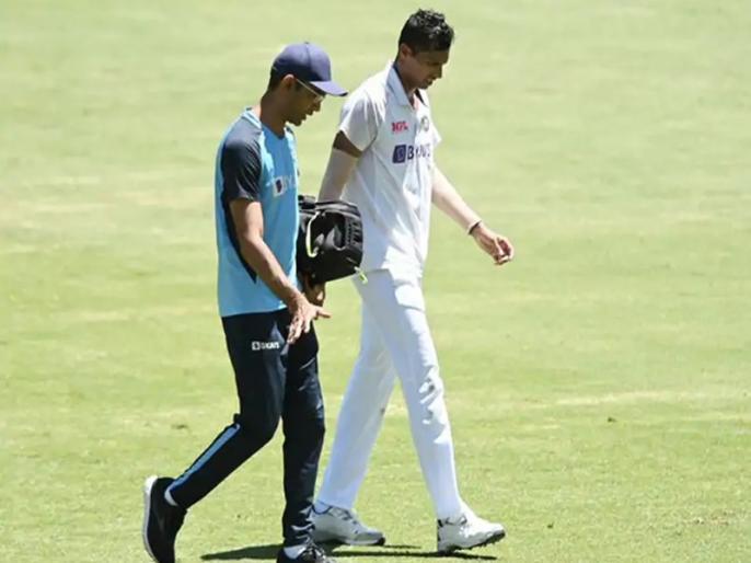 India vs Australia, 4th Test: Navdeep Saini complained of a groin pain and has been taken for scans | IND vs AUS, 4th Test: नवदीप सैनी स्कैन के लिए पहुंचे हॉस्पिटल, मुकाबले में आगे खेलना संदिग्ध, सीरीज में अब तक 10 भारतीय चोटिल
