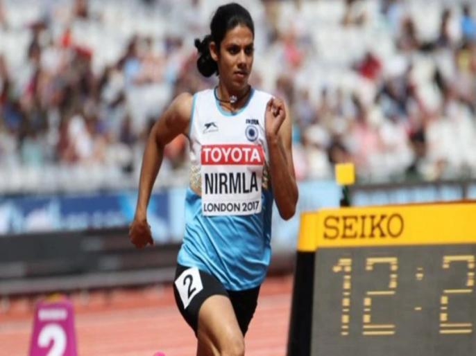Indian sprinter Nirmala Sheoran has been banned for four years for doping and has been stripped of two titles from the 2017 Asian Championships | भारतीय फर्राटा धाविका निर्मला शेरॉन 4 साल के लिए बैन, देश से छिना खिताब