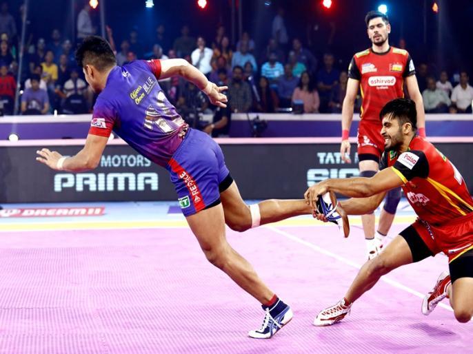 PKL 2019, Semi Final 1: Dabang Delhi K.C. Beat Bengaluru Bulls (44-38 ), enter in final | PKL 2019, Bengaluru Bulls vs Dabang Delhi, Semi Final 1: दबंग दिल्ली ने रच दिया इतिहास, पहली बार फाइनल में बनाई जगह