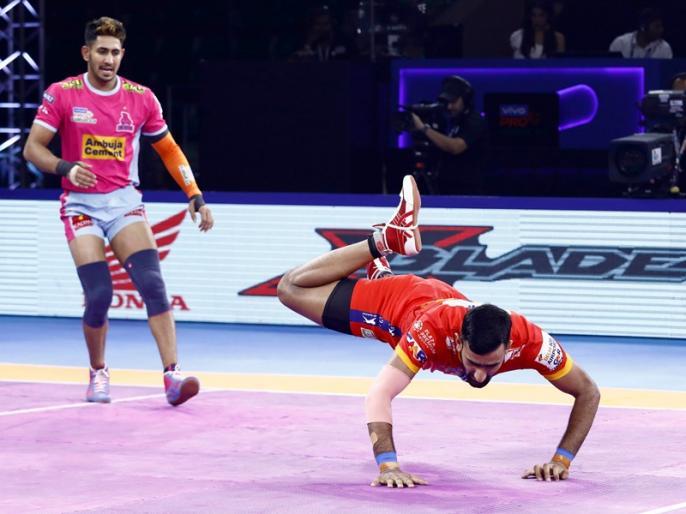 PKL 2019: UP Yoddha Beat Jaipur Pink Panthers (31-24) | PKL 2019, UP Yoddha vs Jaipur Pink Panthers: दीपक हुड्डा की मेहनत पर फिरा पानी, यूपी ने 31-24 से मारी बाजी