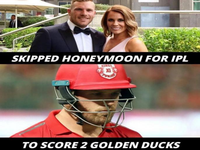 IPL 2018: Social media users trolls KXIP's Aaron Finch after back-to-back ducks post marriage | हनीमून छोड़ आईपीएल खेलने पहुंचा यह खिलाड़ी दो मैचों में हुआ फेल, हो रही जमकर खिंचाई