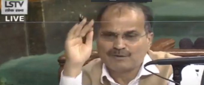 India-China border issueMonsoonSessionRajnath Singh pm modiCongress MP Adhir Ranjan Chowdhurywalkout from Lok Sabha demanding discussion | संसद में हंगामाः देश राजनाथ सिंह का नहीं, अधीर रंजन चौधरी बोले- जवानों के सम्मान में नहीं बोलने दिया गया,'मन की बात सुनी, अब चीन की बात हो'