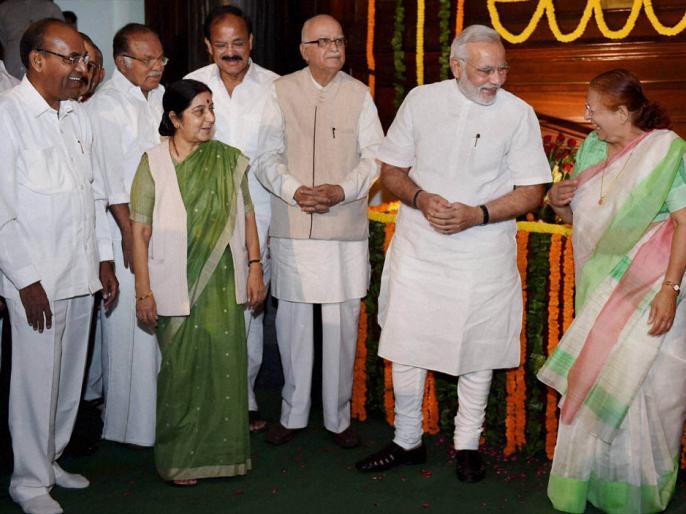 17th Lok Sabha will miss prominent faces advani joshi sushma   लोकसभा में इस बार कई दिग्गज नेता नहीं आएंगे नजर, आडवाणी, जोशी और सुषमा की जगह दिखेंगे नये चेहरे