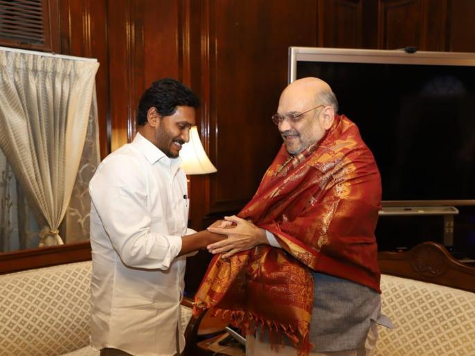 YS Jaganmohan Reddy met Union Home Minister Amit Shah | जगनमोहन रेड्डी ने गृह मंत्री अमित शाह से मुलाकात की, लोकसभा डिप्टी स्पीकर के पद मिलने पर कही ये बात