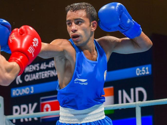 Amit Panghal creates history, becomes first Indian male boxer to reach World Championship final   बॉक्सर अमित पंघाल ने रचा इतिहास, बने मुक्केबाजी चैंपियनशिप के फाइनल में पहुंचने वाले पहले भारतीय