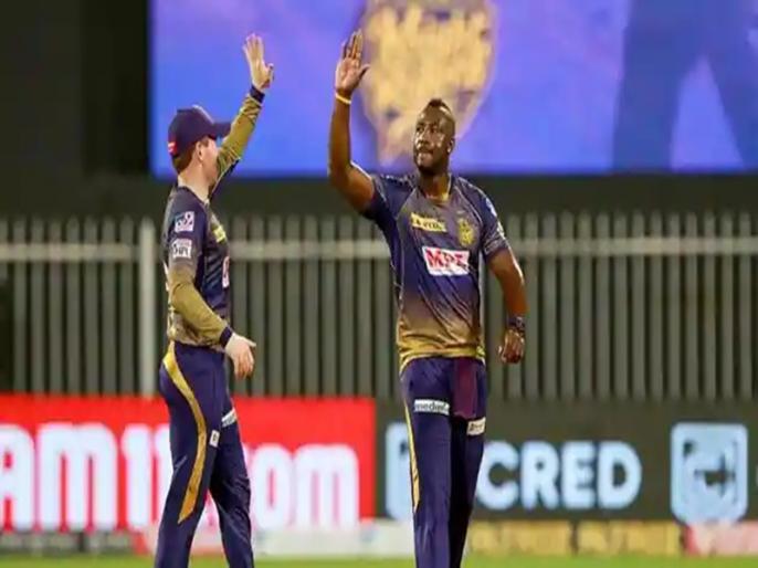KKR vs MI varun Chakravarthy andre russel destroyed mumbai indians batting | IPL 2021: केकेआर की धारदार गेंदबाजी के आगे पस्त हुए मुंबई के बल्लेबाज, आंद्रे रसेल ने झटके पांच विकेट, बने सिर्फ 152 रन