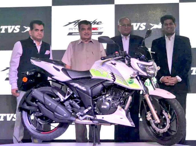 Ethanol-powered TVS Apache RTR 200 Fi E100 launched at Rs 1.20 lakh   टीवीएस अपाचे की एथेनॉल से चलने वाली इस बाइक से कम होगा प्रदूषण, नहीं होगी पेट्रोल की जरूरत