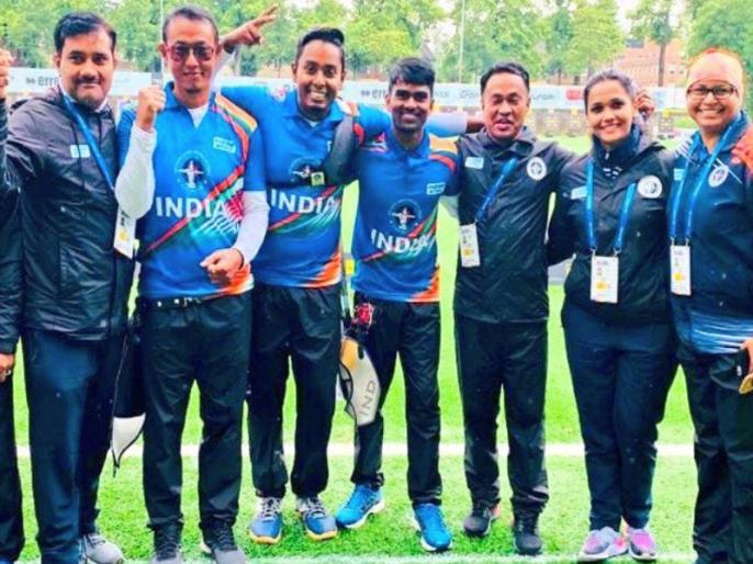Indian Men's Archery Team reach in World Championship Final | ओलंपिक कोटा हासिल कर चुकी भारतीय तीरंदाजी टीम विश्व चैंपियनशिप के फाइनल में