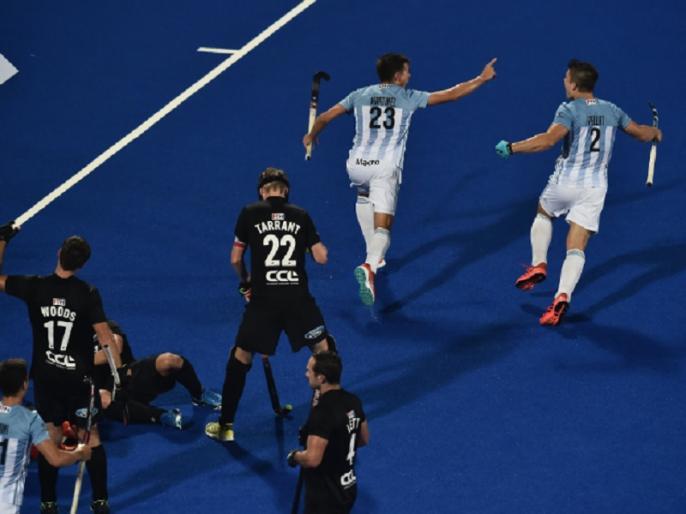 hockey world cup 2018 pool a argentina beat new zealand by 3 0 | हॉकी वर्ल्ड कप: ओलंपिक चैंपियन अर्जेन्टीना का विजयी अभियान जारी, न्यूजीलैंड को 3-0 से हराया
