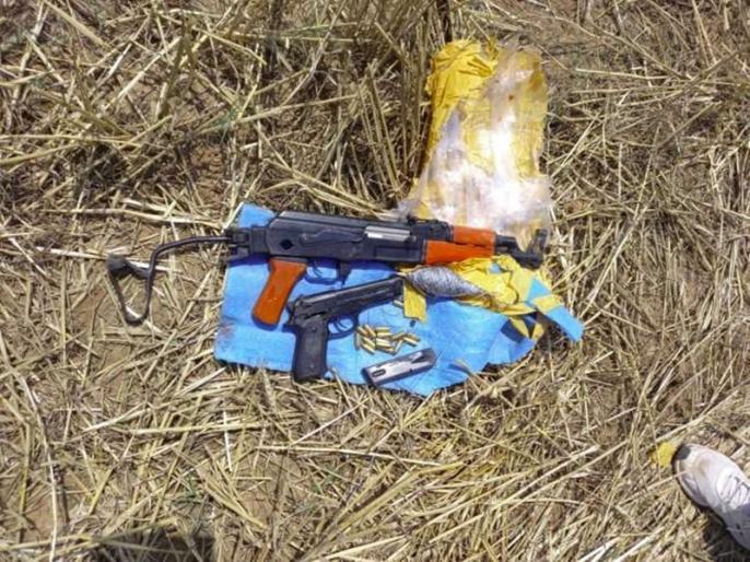 in jammu kashmir drones from pakistan dropped weapons in border   जम्मू: पाकिस्तानी साजिश नाकाम, सांबा में ड्रोन से फेंके हथियार बरामद