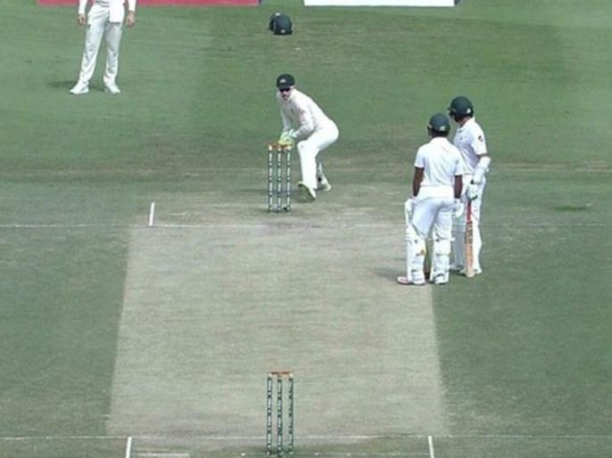 Pakistan vs Australia: Azhar Ali Involved in one of the most bizarre run-outs during 2nd test | पाकिस्तानी बल्लेबाजों की हैरान करने वाली गलती, ऑस्ट्रेलिया के खिलाफ सबसे 'अजीबोगरीब' रन आउट का हुए शिकार