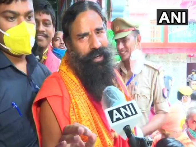 Baba Ramdev says with Ram Temple, 'Ram Rajya' will be established in India | अयोध्या: रामदेव भूमिपूजन से पहले पहुंचे हनुमानगढ़ी, कहा- राम मंदिर से आएगा देश में रामराज्य