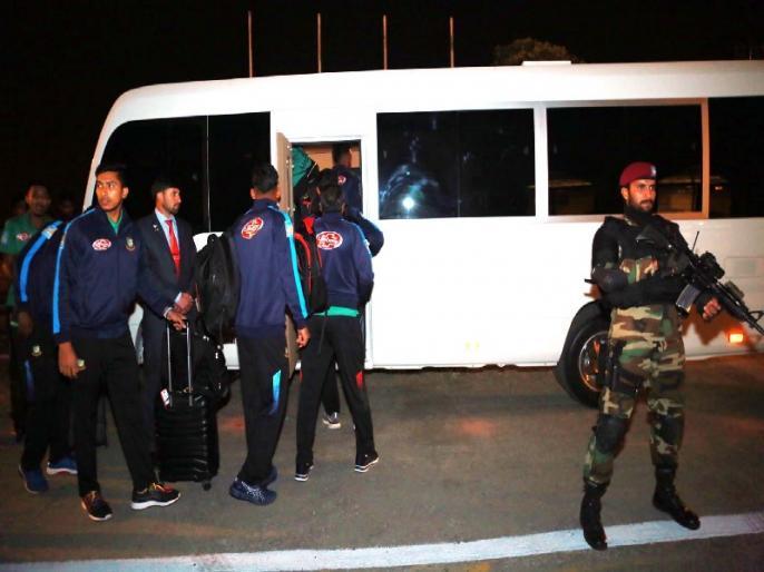 Pakistan vs Bangladesh: Bangladesh team arrive in Pakistan amidst tight security | PAK vs BAN: 12 साल बाद पाकिस्तानी दौरे पर पहुंची बांग्लादेशी टीम, कड़ी सुरक्षा के लिए तैनात रहेंगे 10 हजार जवान