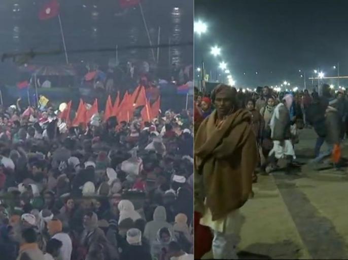 Kumbh 2019: Basant Panchami Triveni Sangam 3rd 'shahi snan' devotees holy dip on ganga | कुंभ 2019: बसंत पंचमी पर उमड़ा श्रद्धालुओं का रेला, 2 करोड़ से अधिक लोग लगाएंगे आस्था की डुबकी