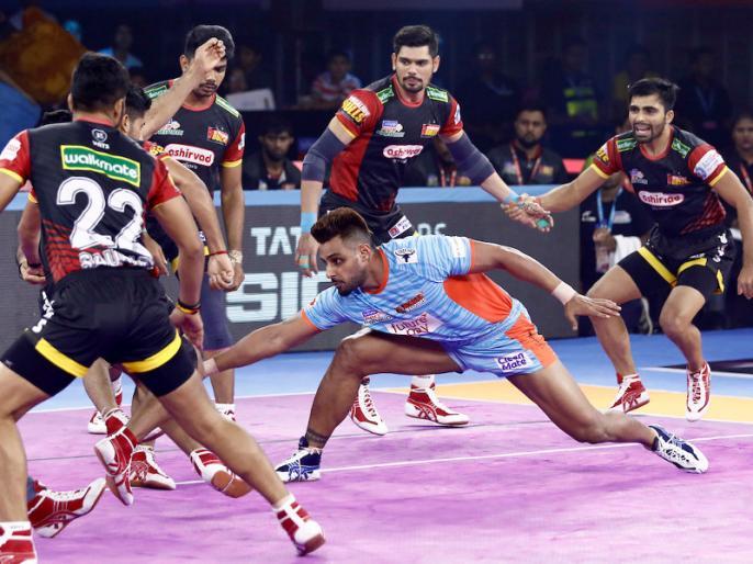 Pro Kabaddi League 2019: Bengal Warriors beat Bengaluru Bulls by 42-40 | PKL 2019: बंगाल ने घरेलू लेग में दर्ज की लगातार तीसरी जीत, मौजूदा चैंपियन बेंगलुरु को 42-40 से हराया