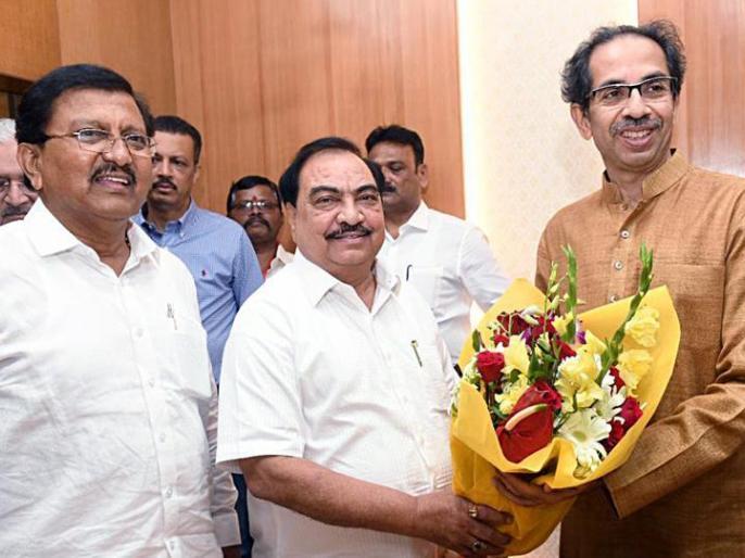 Senior BJP leader Eknath Khadse meets Uddhav Thackeray, talks about joining Shiv Sena-NCP   बीजेपी के वरिष्ठ नेता एकनाथ खड़से ने की उद्धव ठाकरे से मुलाकात, शिवसेना-एनसीपी में जाने की चर्चा