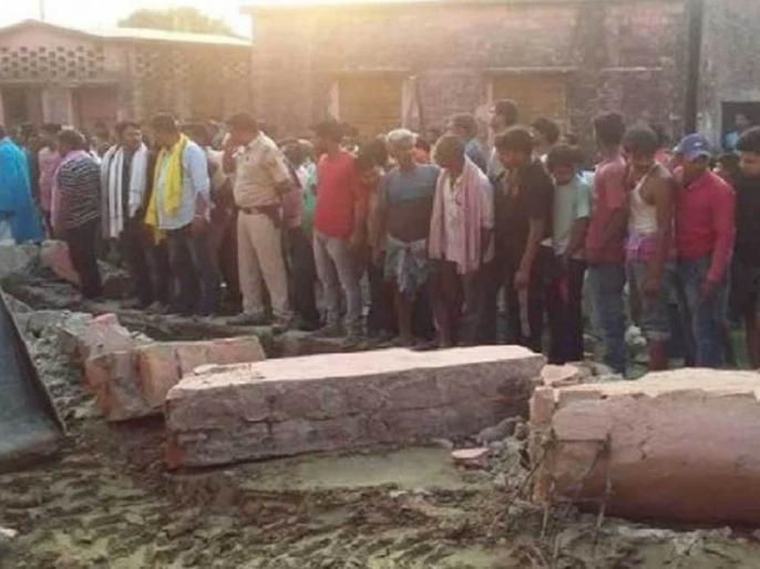 biharkhagariaaccident 10people died after school wall collapses8 bodiesremoved so farrelief intensified | खगड़ियामें स्कूल की दीवार गिरने से 10 से ज्यादा लोगों की मौत, अभी तक 8 शवों को निकला गया, राहत तेज
